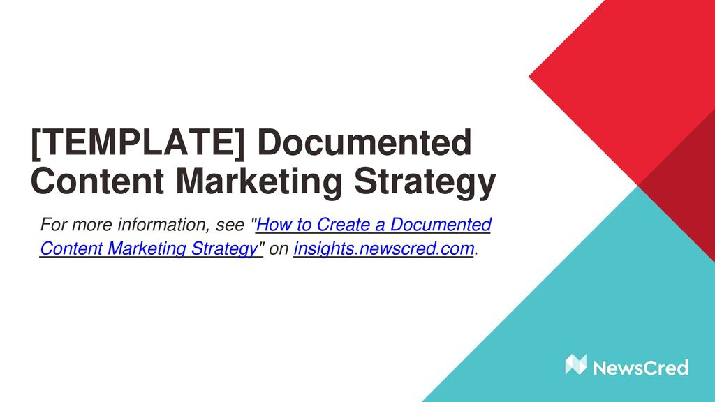 TEMPLATE Documented Content Marketing Strategy Ppt Download - Content marketing strategy template